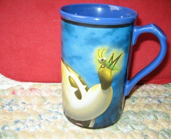 Disney's Mickey Mouse Tall Coffee Mug Disney Store Cartoon Blue Collectible