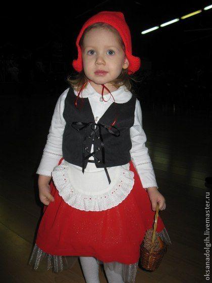 Костюм Красной Шапочки - однотонный,Костюм Красной шапочки,новогодний костюм
