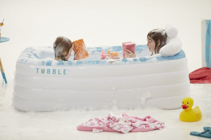 Your kids will love playing in the Tubble. An inflatable bath that is soft, comfy and easy to put wherever you desire.