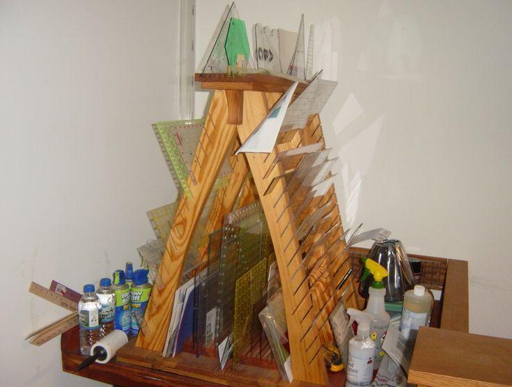15 best Quilt Ruler Storage images on Pinterest | Craft rooms ... : quilt ruler holder - Adamdwight.com
