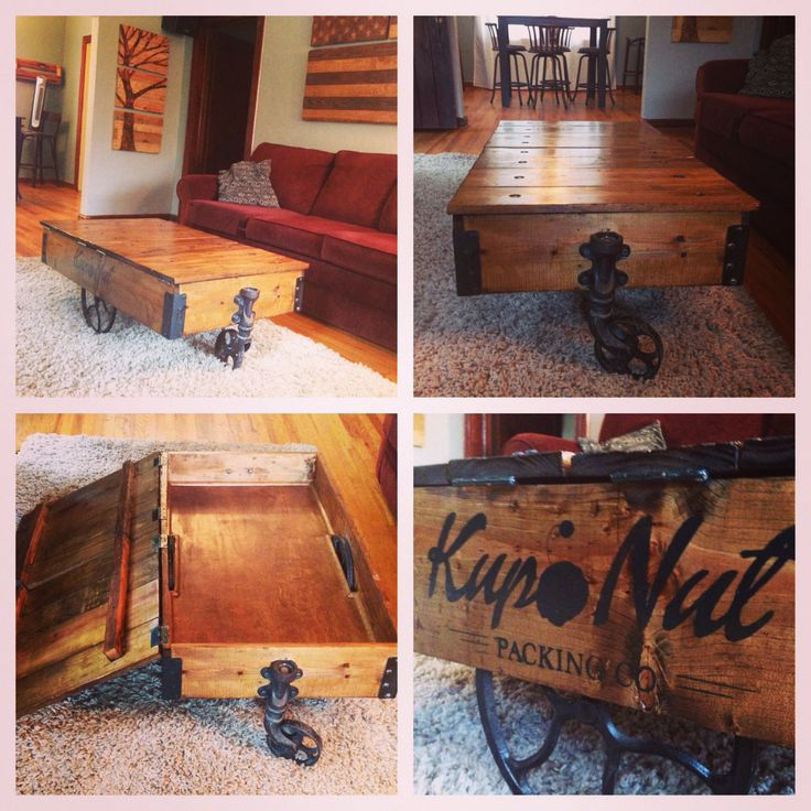 Industrial Cart Coffee Table Diy: 461 Best Images About Pallet Projects Diy On Pinterest