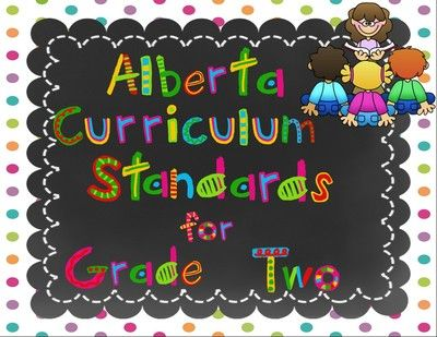 Alberta Grade 2 Curriculum Standards I Can Posters from Lovely Literacy More on TeachersNotebook.com -  (150 pages)  - I Can grade two standards are listed for all the standards in the Alberta Grade Two Curriculum: Language Arts, Math, Social Studies, Health, P.E., Science.