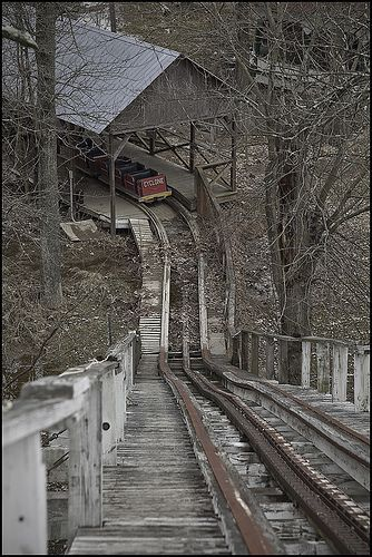 Roller coaster decaying.