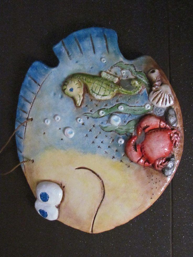 рыбка из соленого теста ,высота 35см,длина 50см