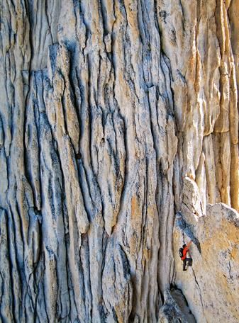 Alex Honnold on Matthes Crest (5.6) in Yosemite. Photo by Kolin Powick   ROCK and ICE Magazine