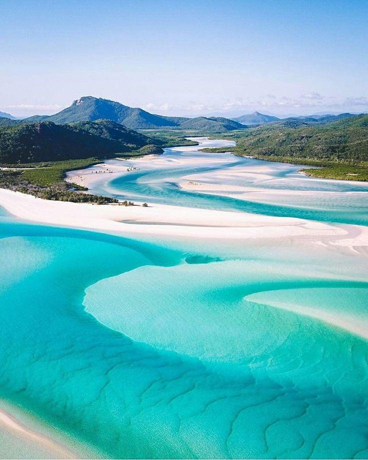Plaża Whitehaven w Australii.