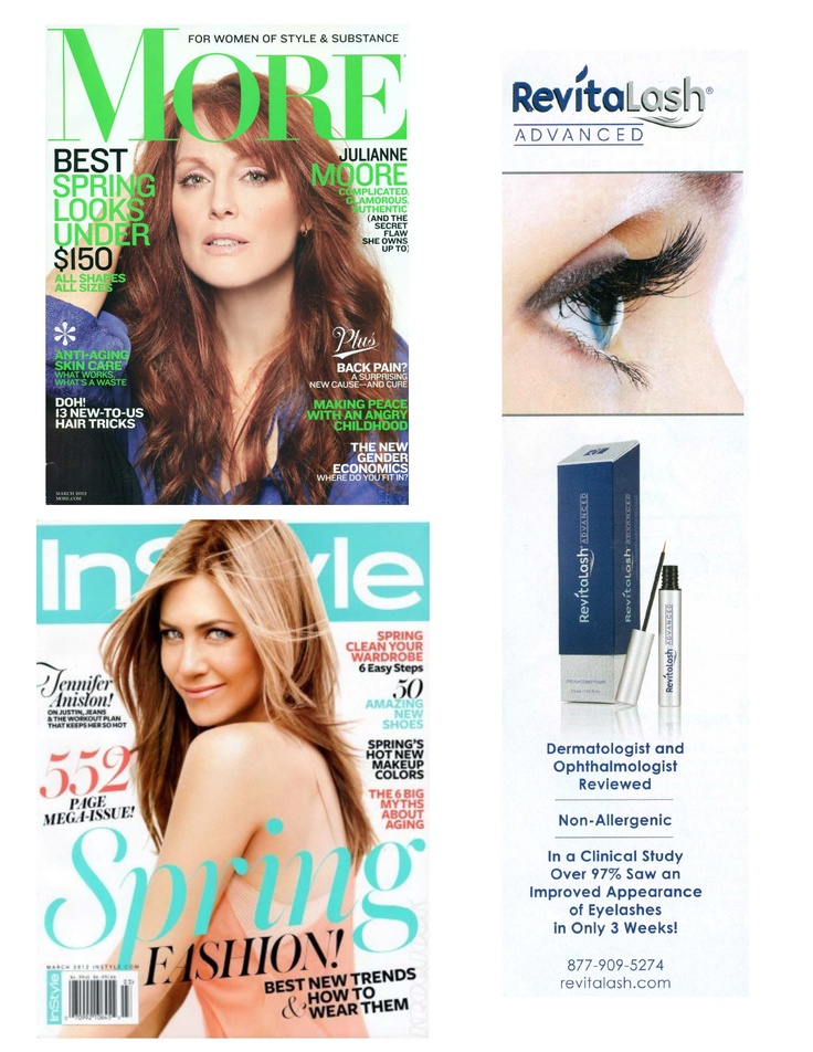 RevitaLash Advanced, as seen in More and InStyle!