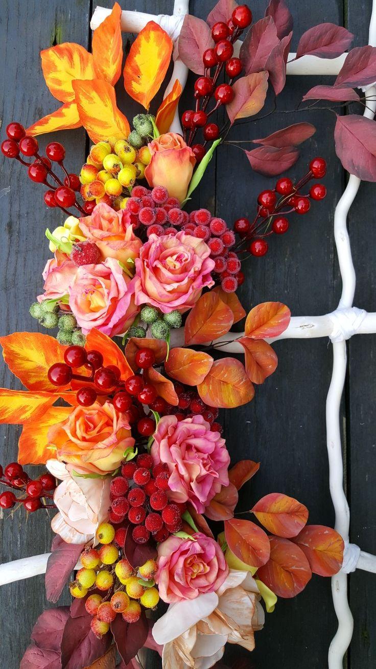 Dekoracja z foamiranu, kwiaty z foamiranu,
