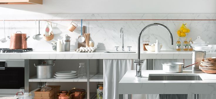 Put the finishing touches on your kitchen with a designer kitchen faucet set. We have all kinds of styles from sleek and modern to rustic and vintage. #kitchen #kitchenideas #kitchendesign #dreamkitchen #interiordesign #homeideas #houseideas #missionwestk