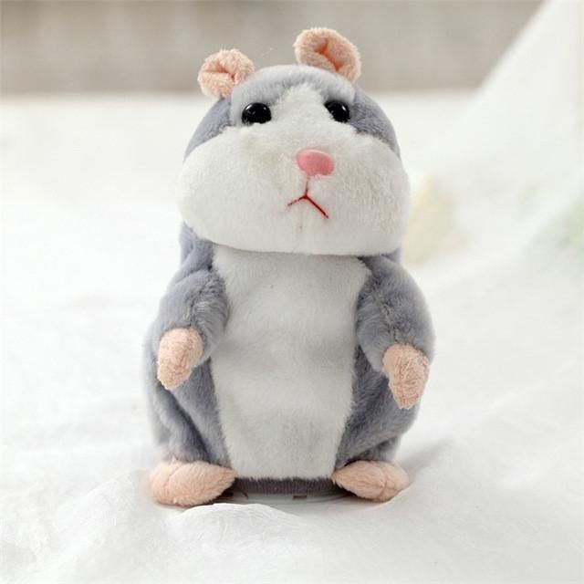 TALKING HAMSTER DOLL FOR BABIES & TODDLERS! On Sale Now - Only $19.99 & Free Shipping! ~ 30 Day Money Back Guarantee   PREMIUM QUALITY - SAFE AND EASY TO USE!  This adorable talking hamster stuffed animal toy is made of super-soft velvet material, no irritation to baby's skin! Convenient and easy to use. Switch it on, squeeze it's hand and talk to it, it will mimic your every word in it's funny hamster voice. Flip the switch to OFF position to conserve battery life when it is not in use.