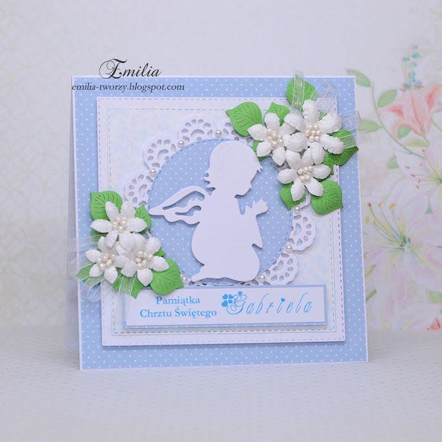 Emilia tworzy: Kartka na chrzest/Chrzest Święty/Pamiątka Chrztu Świętego/Christening card