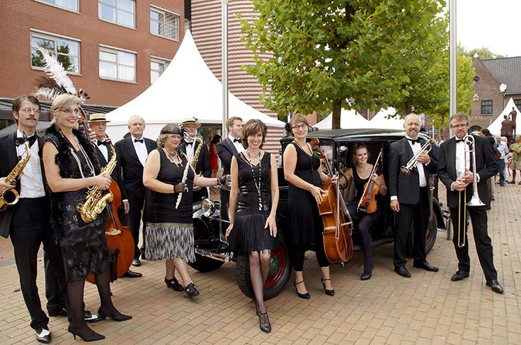 Salon-and dance Orchestra Decadentia during Roaring Twenties party museum Drachten.2014