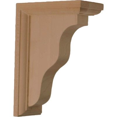 "Ekena Millwork Hamilton 7""H x 2 1/4""W x 5""D Traditional Bracket in Red Oak"