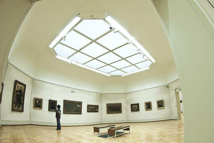 L'interno della Galleria d'Arte Moderna Ricci Oddi, Piacenza