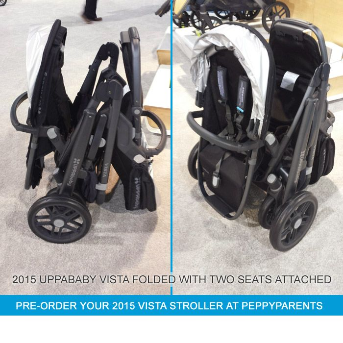2015 Uppababy Vista Folded With Rumble Seat Kids And