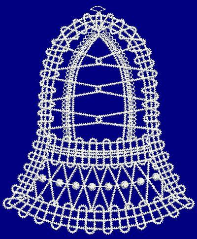 BATTENBERG, Embroidery, freeby, Bell