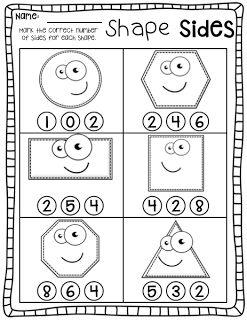 Kindergarten Shapes Packet for Guided Math!