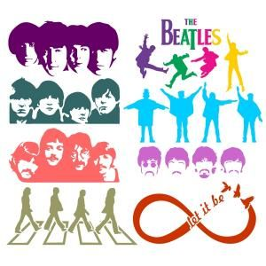 The Legendary Fantastic Four Beatles Digital Art Images with Let It Be Infinity and Abbey Road Album Cover Cuttable Design Cut File. Vector, Clipart, Digital Scrapbooking Download, Available in JPEG, PDF, EPS, DXF and SVG. Works with Cricut, Design Space, Sure Cuts A Lot, Make the Cut!, Inkscape, CorelDraw, Adobe Illustrator, Silhouette Cameo, Brother ScanNCut and other compatible software.