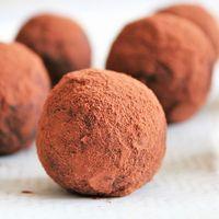 Recette Sans lactose Truffes au chocolat