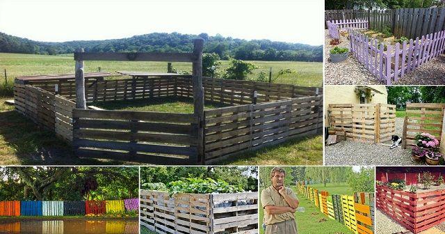 14 DIY Wood Pallet Fence Ideas - http://www.amazinginteriordesign.com/14-diy-wood-pallet-fence-ideas/