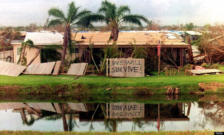 Hurricane Andrew: A Category 5 hurricane killed sixty-five people and caused $26 billion in damage to Florida and other areas of the Gulf Coast. August 16–28, 1992