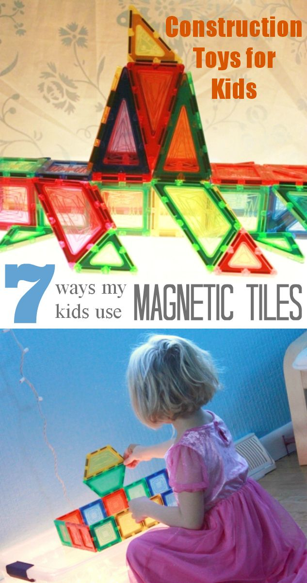 Construction Toys for Kids - 7 Ways my Kids Use Magnetic Tiles