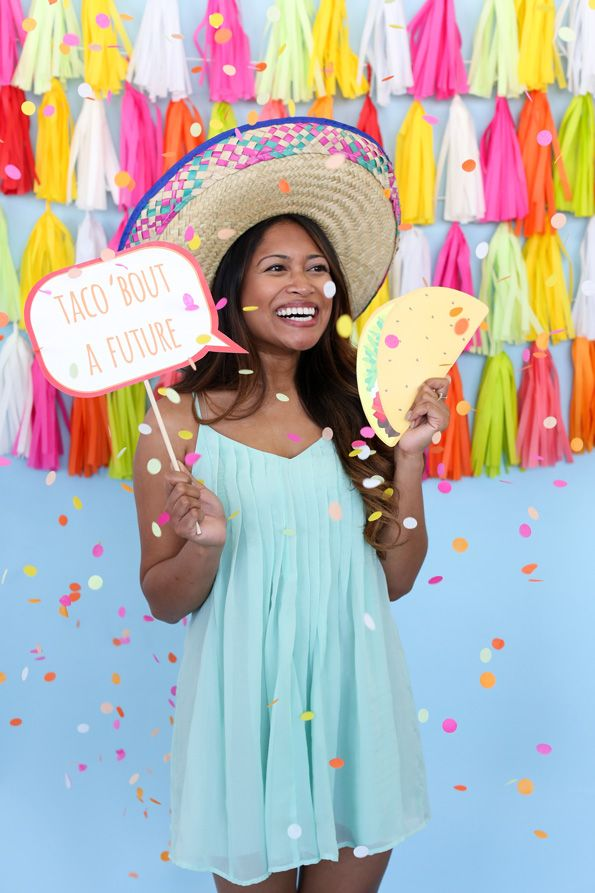 Graduation idea: Taco 'Bout a Future Party! Celebrate the grad's bright future with colorful decorations and delicious Mexican food.