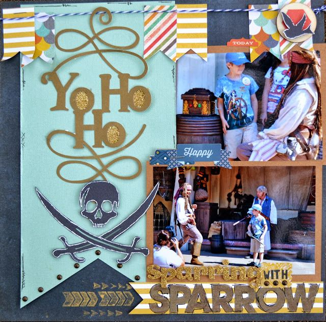 Very cute Pirates scrapbook page layout idea!