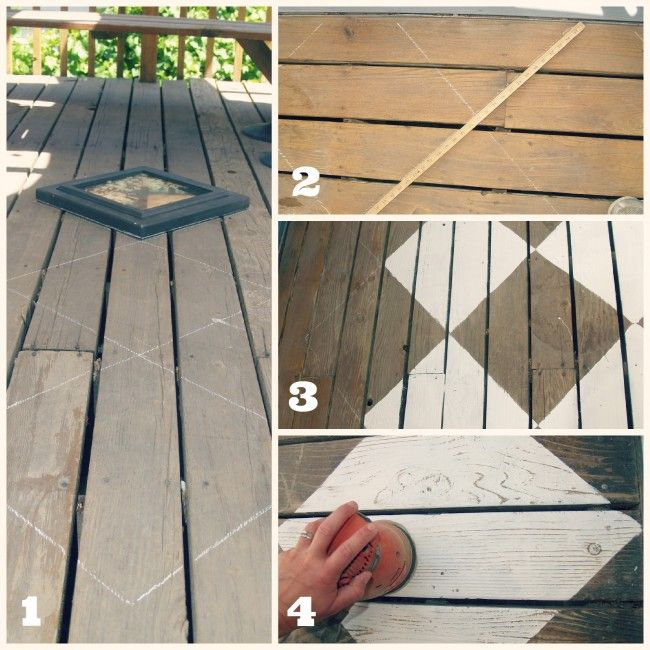 Outdoor Space Makeover: Painted Floors & DIY Drop Cloth Shade