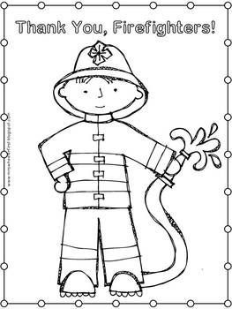 First Grade Health: Fire Safety Coloring Pages (With