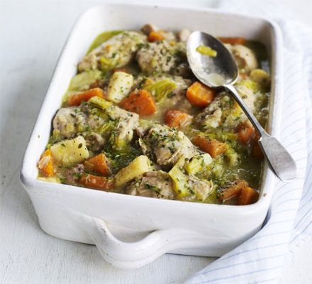 Make double portions of this traditional casserole with parsnip, carrot and leek so you can freeze a batch