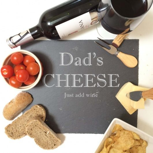 Dad Slate Cheese Board.  Fabulous cheese board gift for Dad or Grandad this Father's Day  Beautifully engraved slate with a modern, contemporary design this is a great centre piece for any cheese loving Dad!  If you would like something other than the wording on this design for your Dad please do just contact us through the contact seller button as we can be totally customised to your liking.