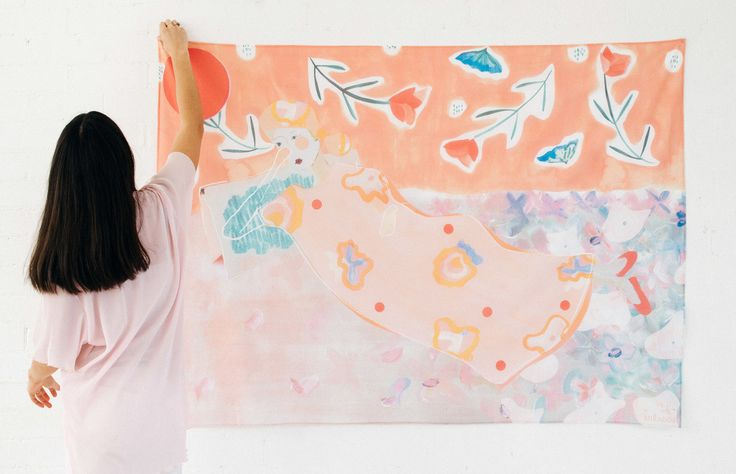 Mirador: A beautiful debut collection of handprinted scarves from young Sydney designer Lauren Elise Cassar via The Design Files