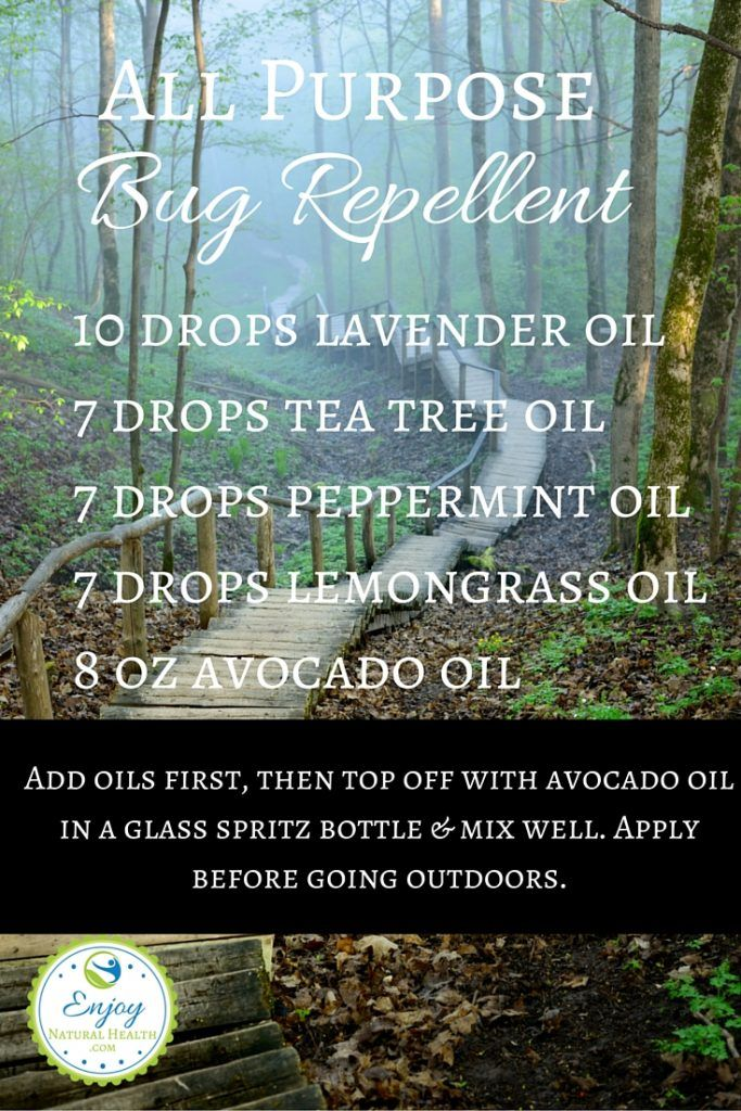 All Purpose Bug Spray - Natural bug sprays made with essential oils work great and they're better for you than commercial brand repellents that contain harmful chemicals. Learn more about how to make your own bug repellent sprays.