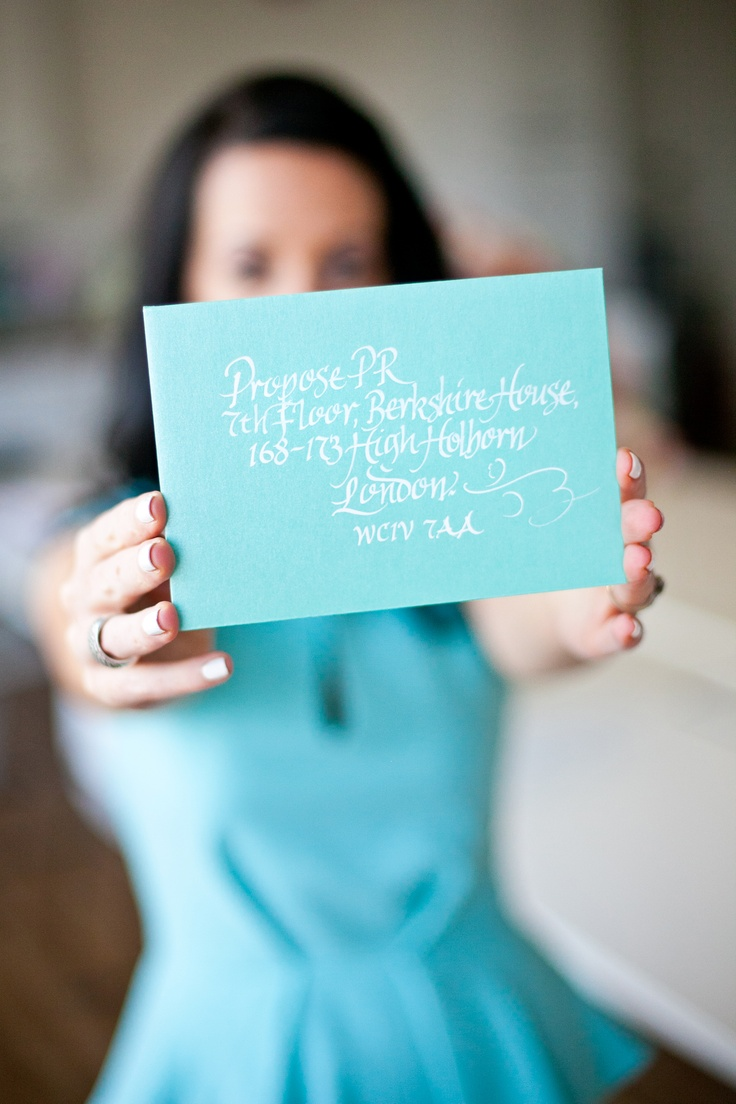 #proposepr #calligraphy #weddingpr #tiffanyblue www.proposepr.com
