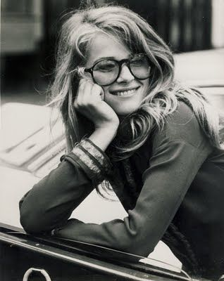 charlotte rampling and messy hair with glasses