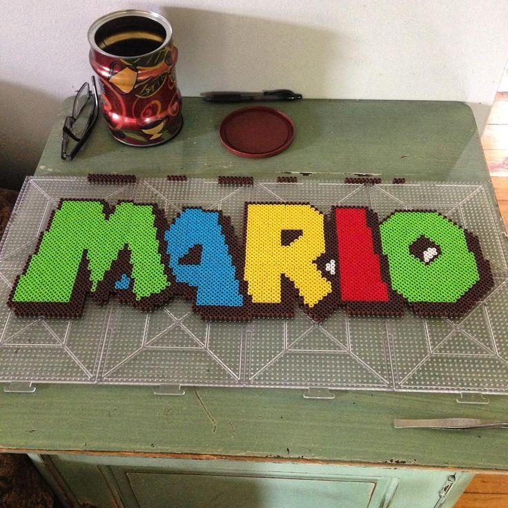 Mario perler beads by mastablasta3