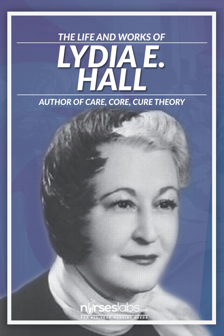 lydia hall nursing theory Nursing theories: the base for professional nursing practice, sixth edition, is  designed to help nurses apply concepts and theories to practice this useful.