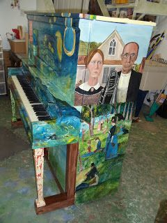 Painted Piano..not sure i like this.