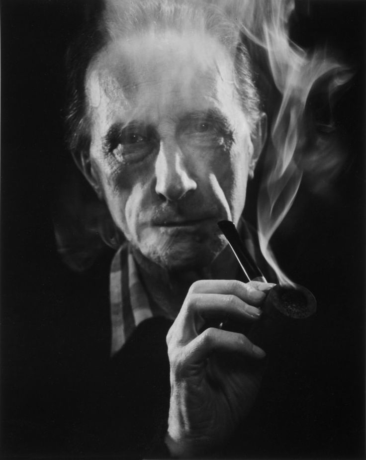 Marcel Duchamp (With Pipe) by John D. Schiff, 1957
