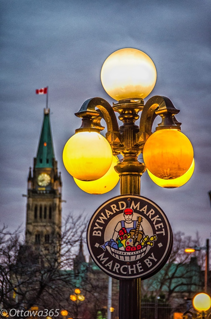 Parliament and the Byward Market, Ottawa, Canada