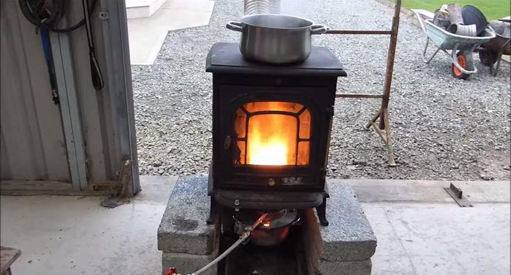 62 best utube survival tips videos images on pinterest for Heater that burns used motor oil