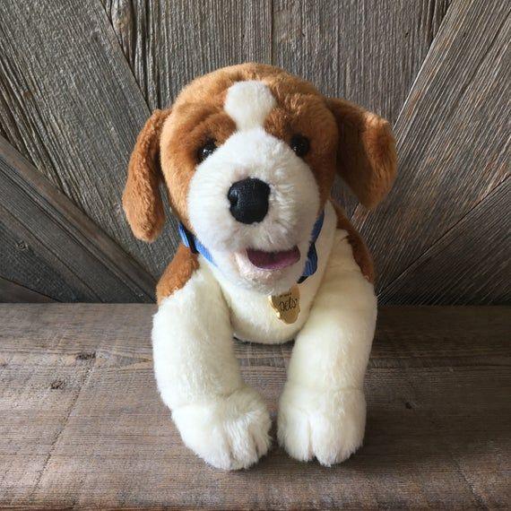 Vintage My Twinn Poseable Pets Dog Plush 1990s Beagle 14 Inch