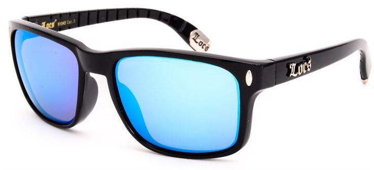 Locs Sunglasses - Retro Classic Style 91045 - Blue Mirror
