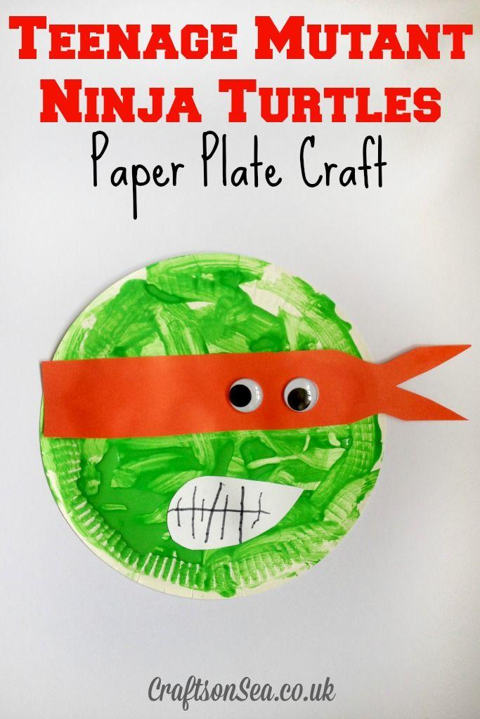 Teenage Mutant Ninja Turtles Paper Plate Craft - Crafts on Sea