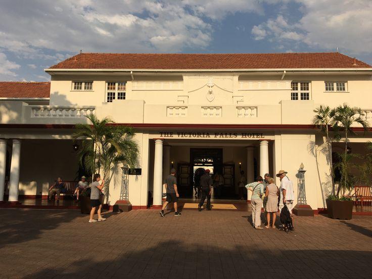The majestic Victoria Falls Hotel in Zimbabwe