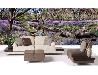 """Mural """"Spring Reflections"""". A wall mural from Muralunique.com. https://www.muralunique.com/spring-reflections-21-x-8-640m-x-244m.html"""