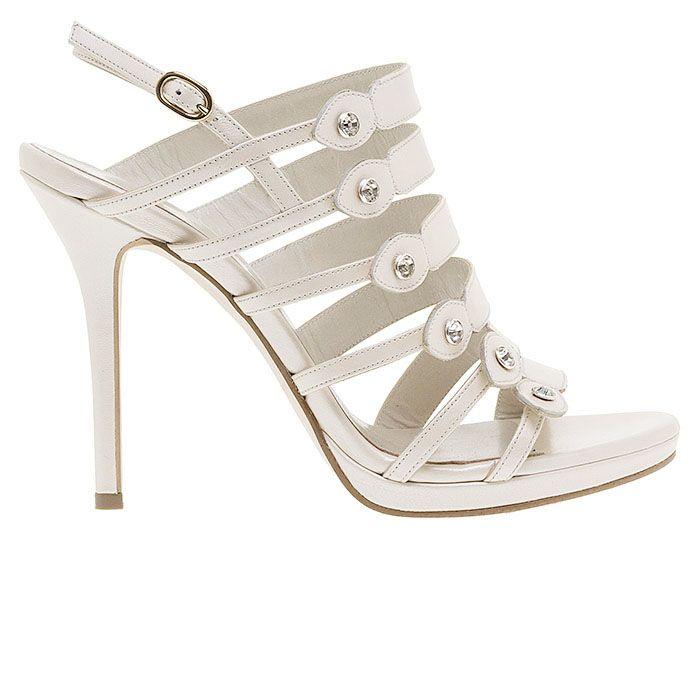 1008B30-WHITE LEATHERwww.mourtzi.com #sandals #heels #mourtzi #bridal #weddingshoes #bride