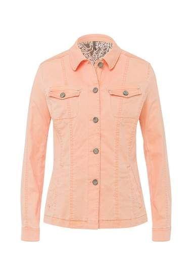 BRAX Chicago - dames jas »Modern spijkerjack in authentieke denimkwaliteit jeans jacket peach colour perzik kleur