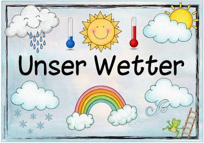 """Sachunterricht in der Grundschule: Themenplakat """"Unser Wetter"""""""